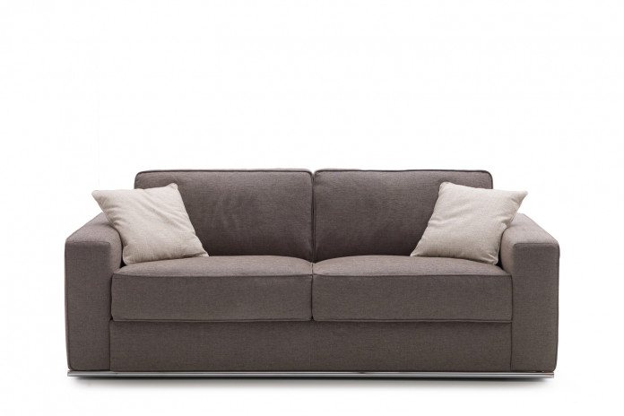 2-3 seater sofa with metal base in a tubular design