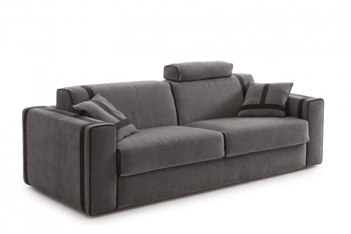 2-3 seater sofa with contemporary tape trims and piping edges