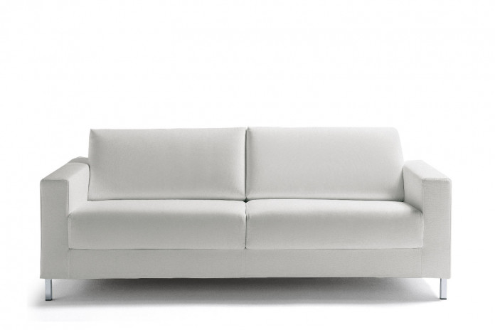 Raised leg 2-3 seater sofa bed turns into a single, double or king size bed