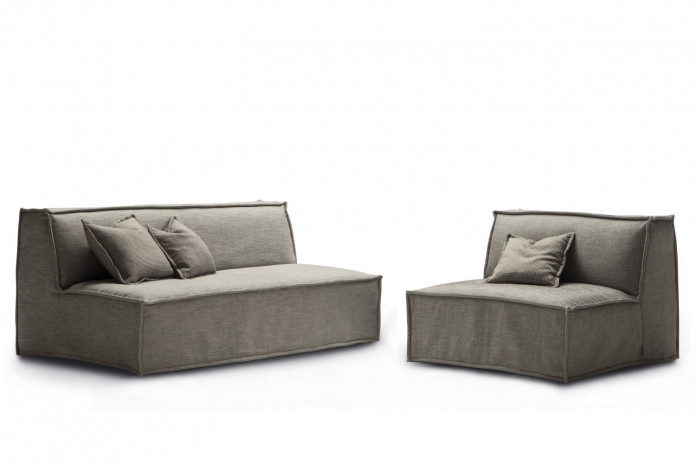 2-3 seater loveseat sofa bed with slipcover, a compact solution with no arms