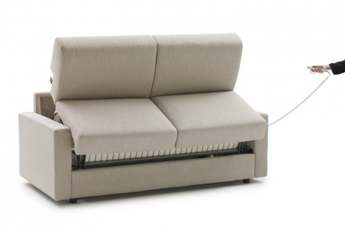 2-3 seater electric sofa bed with Lampolet metal mechanism operated through a remote