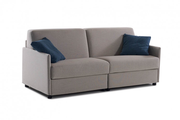 2-in-1 double sofa bed with two separate beds packed into one 3-seater sofa