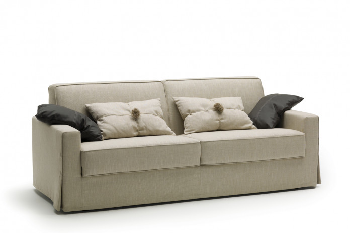 Modern country style 2-3 seater sofa bed detailed with skirt