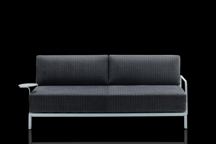 High quality metal frame sofa bed available as a 200 cm wide 3 seater,