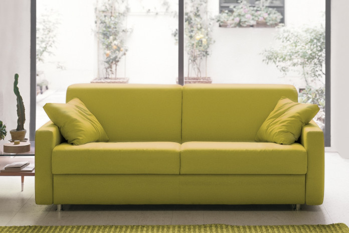 Modern sleeper sofa for guest rooms with a choice of arms