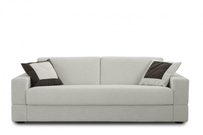 Square arm 2-3 seater sofa with a single cushion seat for a timeless minimalist look