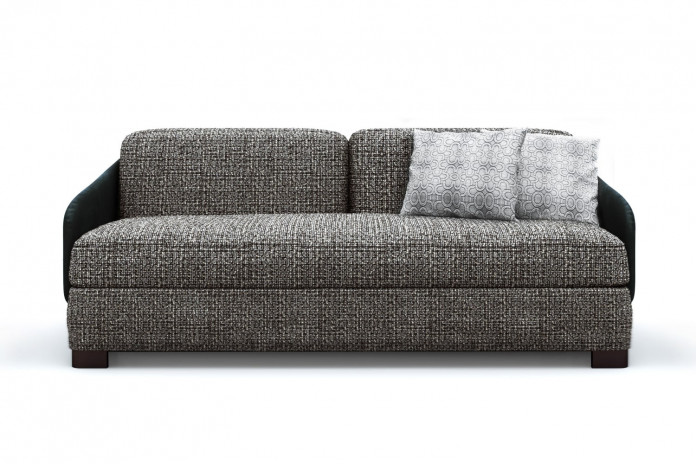 Designer curved back two tone 2-3 seater sofa bed