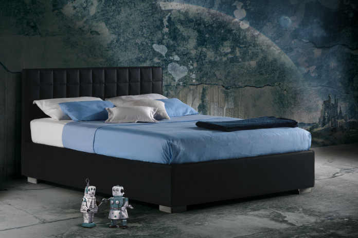 Grid tufted upholstered bed. Single, double, king and super king size