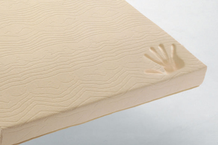 Memory and polyurethane foam bed mattress with cotton fabric cover