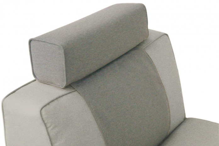 Loose headrest cushion with piping