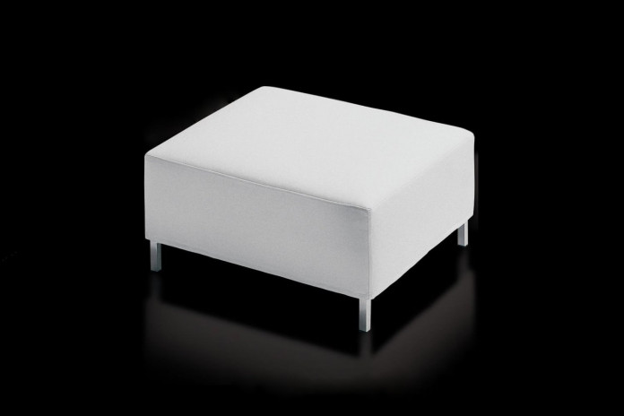 Footstool with high metal legs