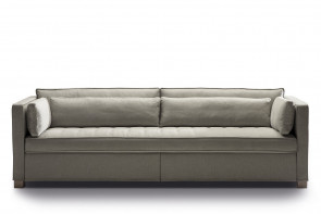 Tuxedo style 3 seater pull out sofa bed with king size mattress