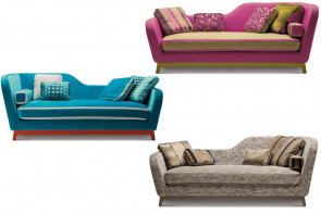Luxury multi coloured 2-3 seater sofa bed with double mattress