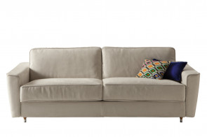 Mid-century Italian style sofa with flared arms