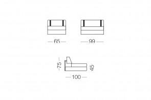 Ellington sofa with headrest cushions.
