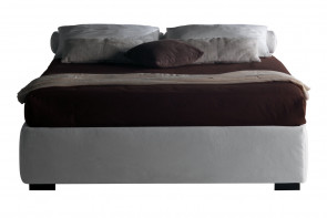 Upholstered bed frame without headboard. Single, double, king and super king size