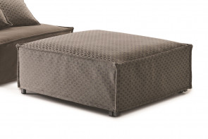 Fold out ottoman guest bed fitted with mattress and slatted base