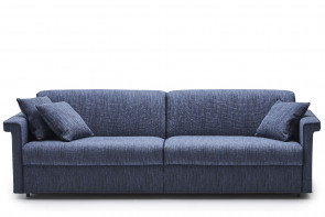 King size 3-seater horizontal sofa bed with 160 x 190 or 200 cm foam or pocket sprung mattress