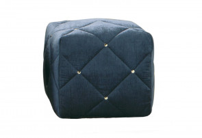 Cube tufted footstool upholstered in fabric in hundreds of colours
