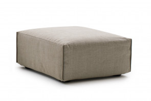 Minimalist upholstered square footstool in two sizes