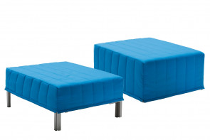 Ottoman with fold out single guest bed with foam mattress