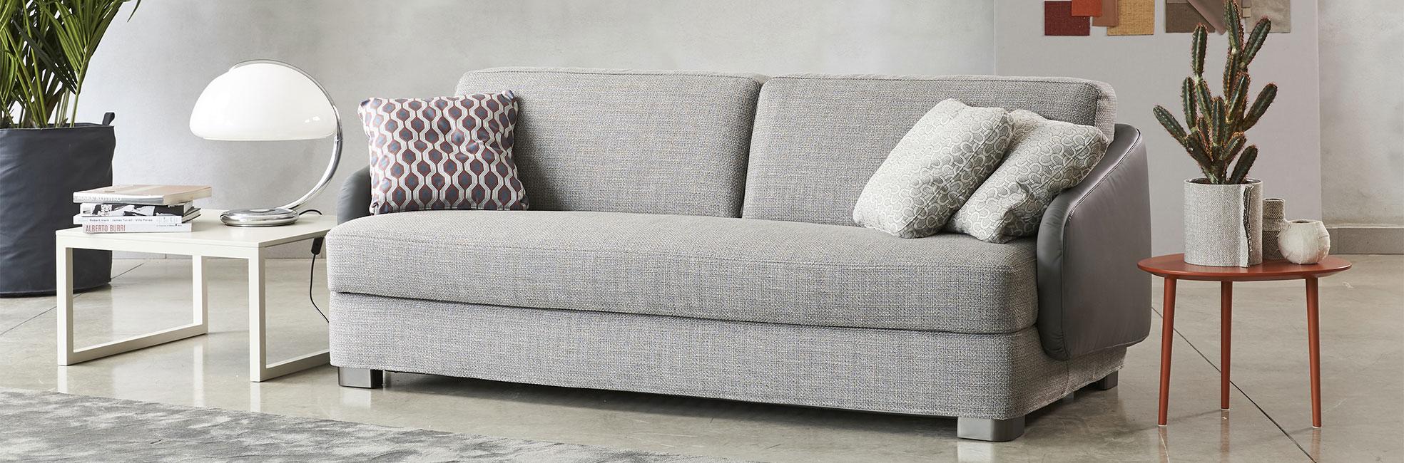 Low back double sofa bed Vivien